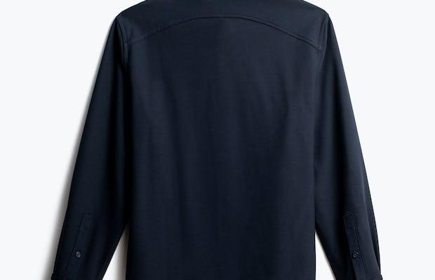 men's navy fusion overshirt back