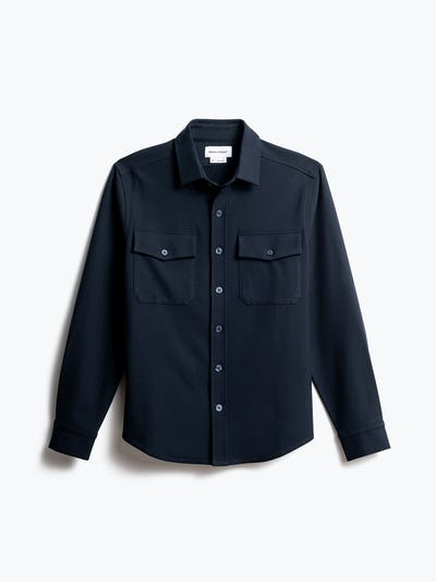 men's navy fusion overshirt front