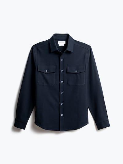 men's navy fusion overshirt front