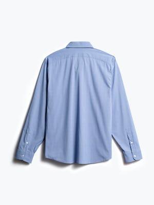 men's blue on blue grid gemini button down back