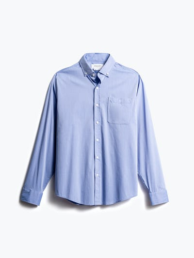 men's blue gemini button down front
