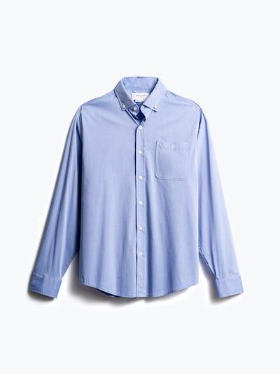 men's blue gemini button down front