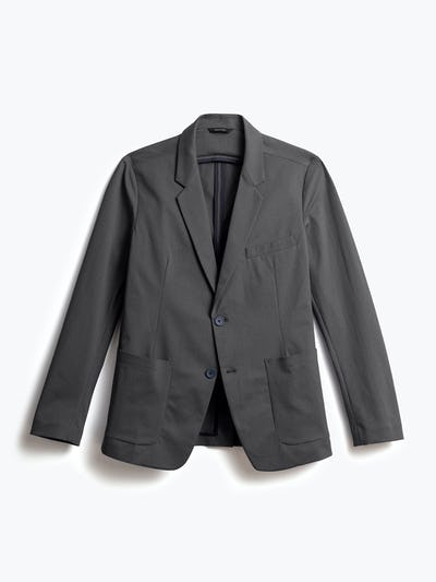 men's charcoal heather kinetic blazer front