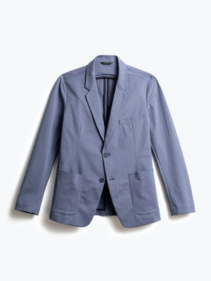 men's indigo heather kinetic blazer front
