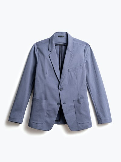 men's indigo heather kinetic blazer front