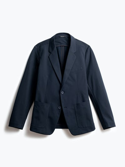 men's navy kinetic blazer front