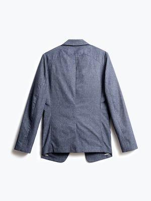 men's navy heather kinetic dot air blazer back