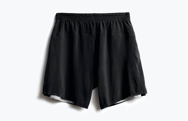 men's black newton active short back