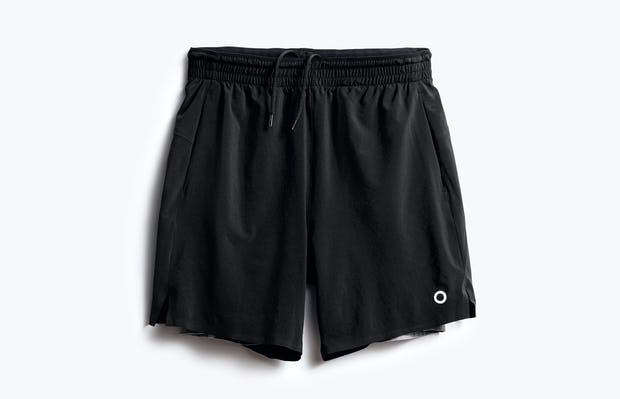 men's black newton active short front