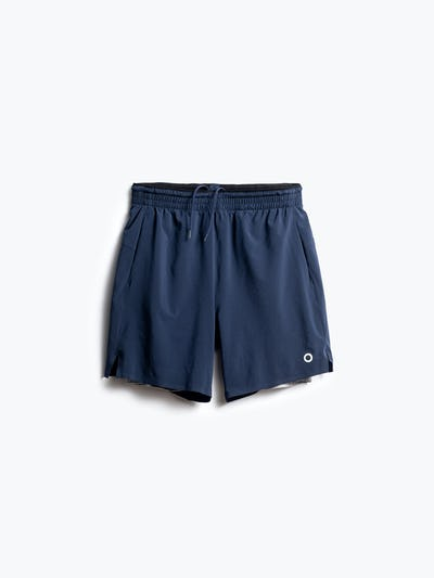 men's navy newton active short front