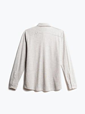 men's grey heather composite merino shirt recycled back