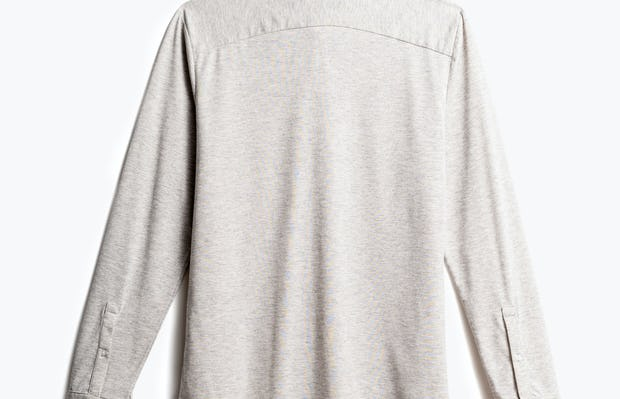 men's grey heather composite merino shirt recycled back