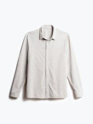 men's grey heather composite merino shirt recycled front
