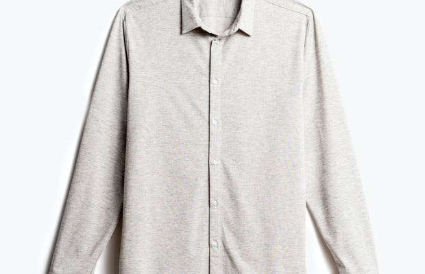 men's grey heather composite merino shirt recycled front