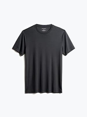men's black responsive tee front