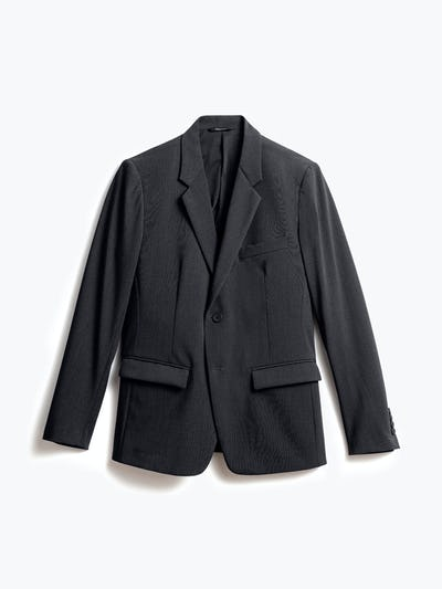 men's dark charcoal velocity blazer front