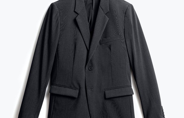 men's dark charcoal velocity blazer front