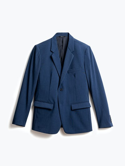 men's indigo heather velocity blazer front