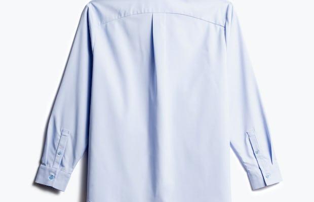 women's light blue aero zero boyfriend shirt shot of back