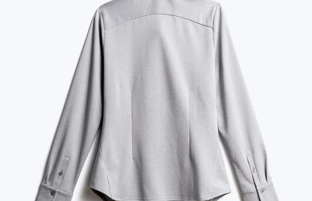 women's grey white heather apollo tailored dress shirt shot of back