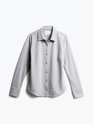 women's grey white heather apollo tailored dress shirt shot of front