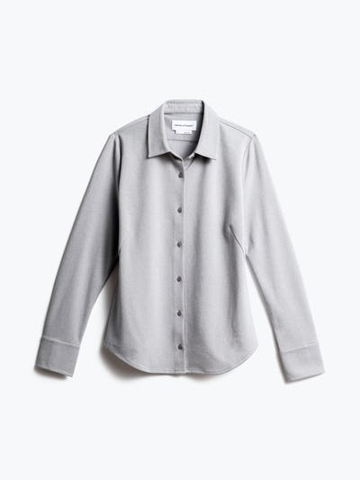 women's grey white heather apollo tailored dress shirt shot of front