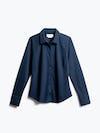 women's navy apollo tailored dress shirt shot of front