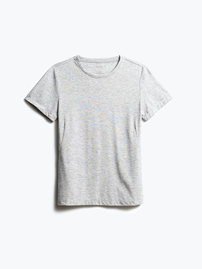women's light grey composite tee shot of front
