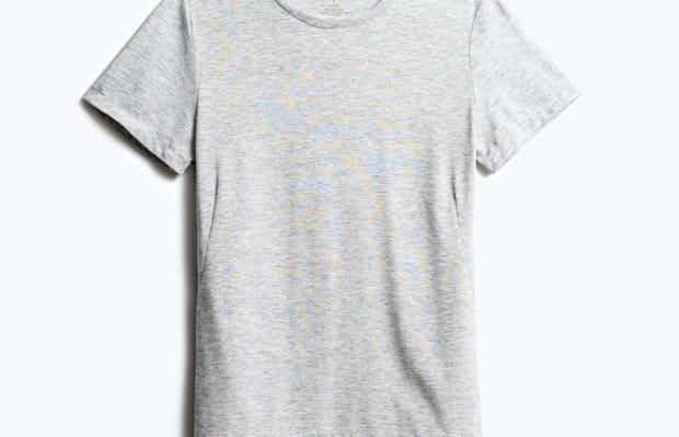 women's light grey composite tee shot of front