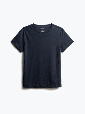 women's navy composite tee shot of front