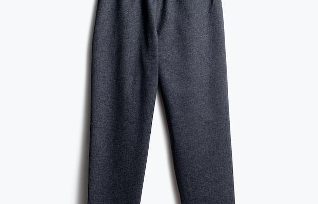 Women's Navy Tweed Plaid Fusion Pull-On Ankle Pant Back View