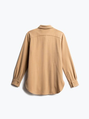 Women's Camel Fusion Overshirt Back View