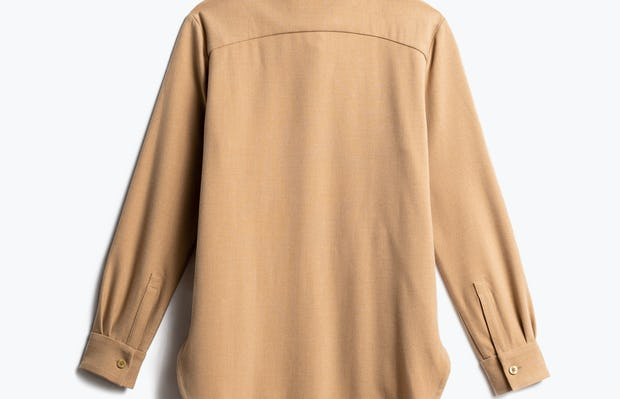Women's Camel Fusion Overshirt Back View