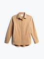 Women's Camel Fusion Overshirt Front View