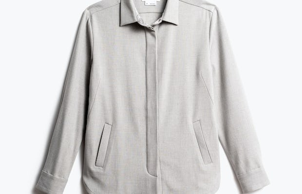 Women's Sandstone Fusion Overshirt Front View