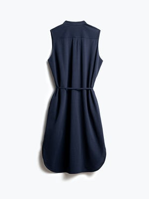 Women's Navy Hybrid Seersucker Dress Back View