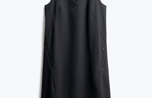 Women's Black Kinetic A-Line Dress Front View
