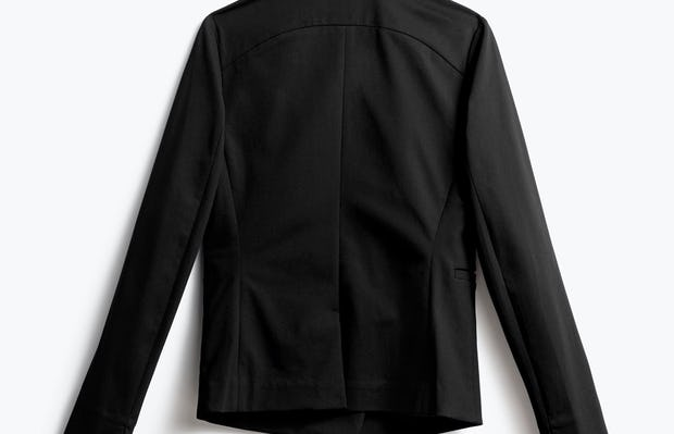 Women's Black Kinetic Blazer Back View
