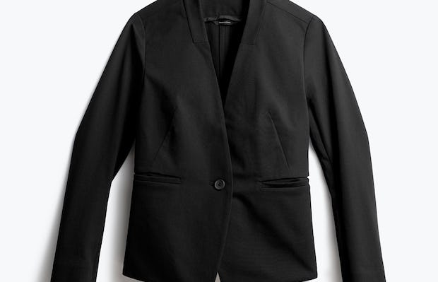 Women's Black Kinetic Blazer Front View