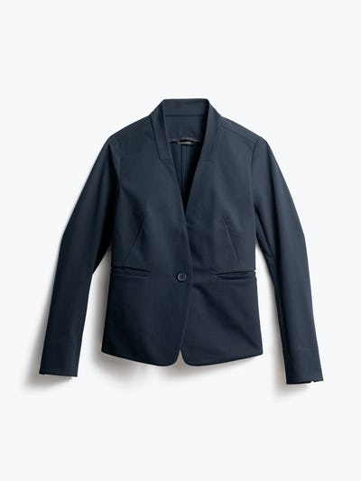 Women's Navy Kinetic Blazer Front View