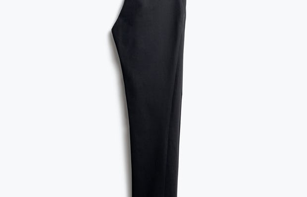 Women's Black Kinetic Pants Slim Folded in Half Back View