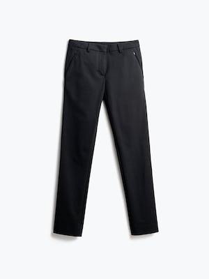 Women's Black Kinetic Pants Slim Front View