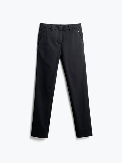 Women's Black Kinetic Pants Slim Front View