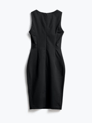 Women's Black Kinetic Sheath Dress Back View