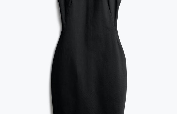 Women's Black Kinetic Sheath Dress Front View