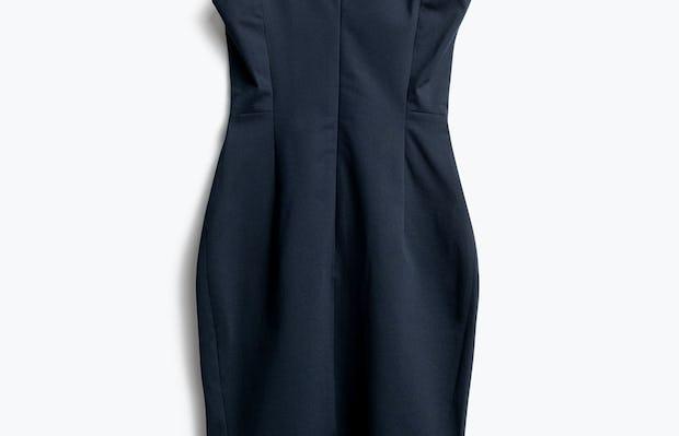 Women's Navy Kinetic Sheath Dress Back View