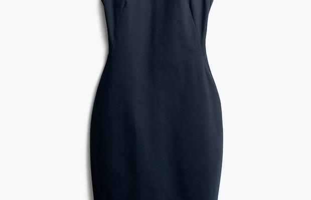 Women's Navy Kinetic Sheath Dress Front View