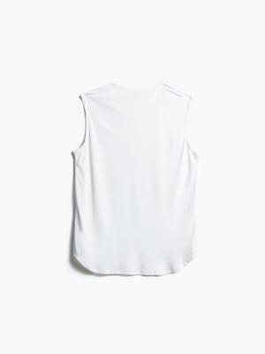 Women's White Luxe Touch Tank Back View
