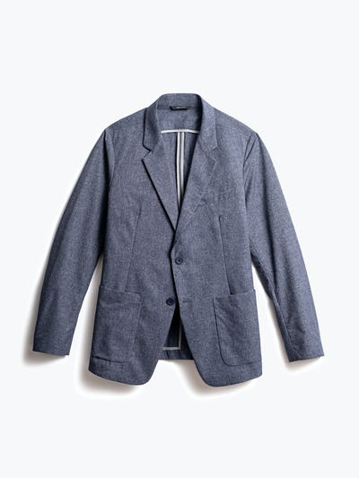 men's navy heather kinetic dot air blazer front