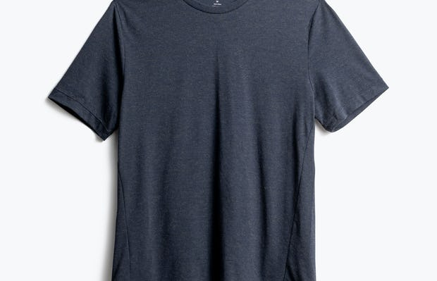men's navy composite merino tee front